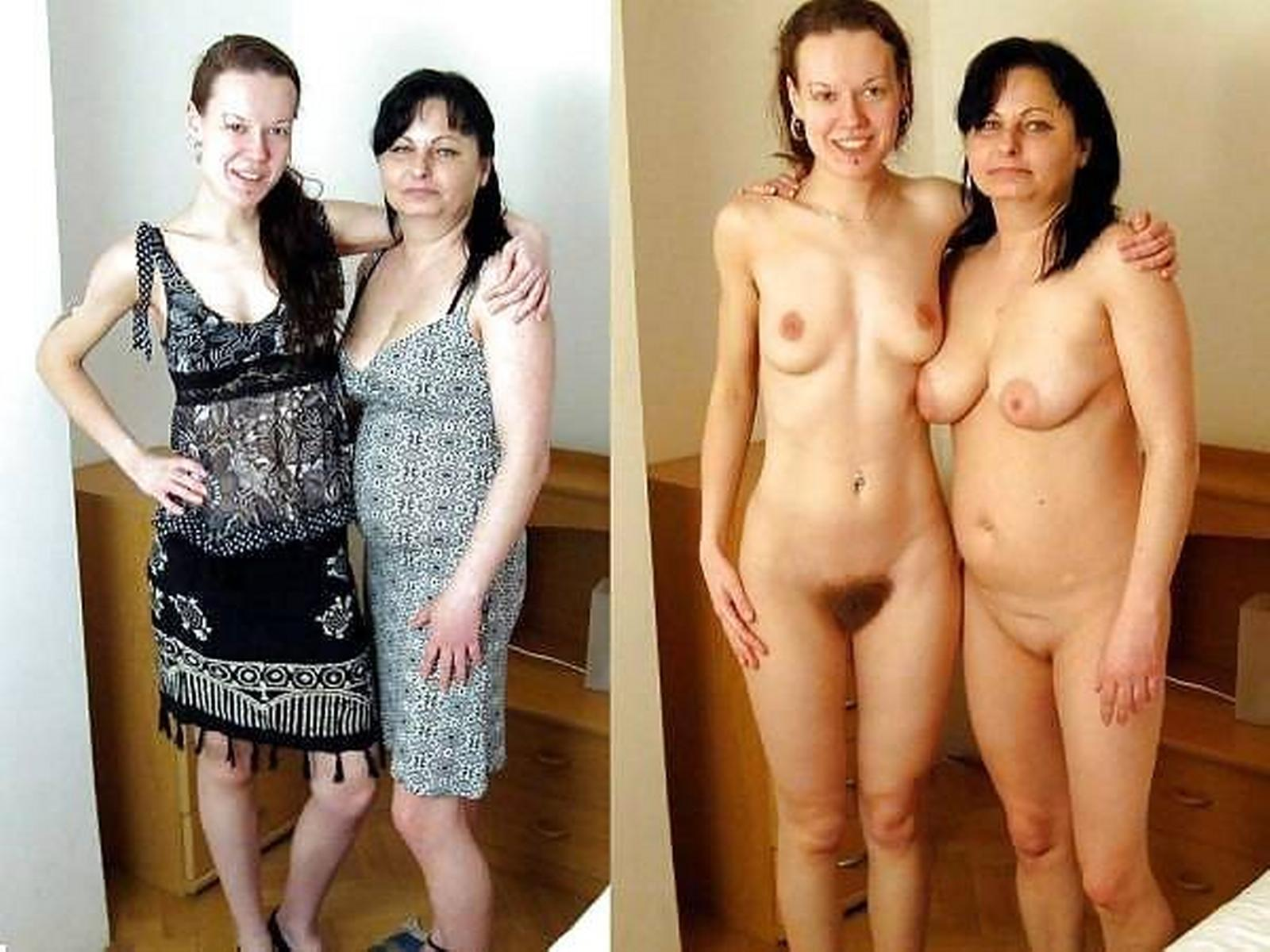 Nude moms and daughters skinny