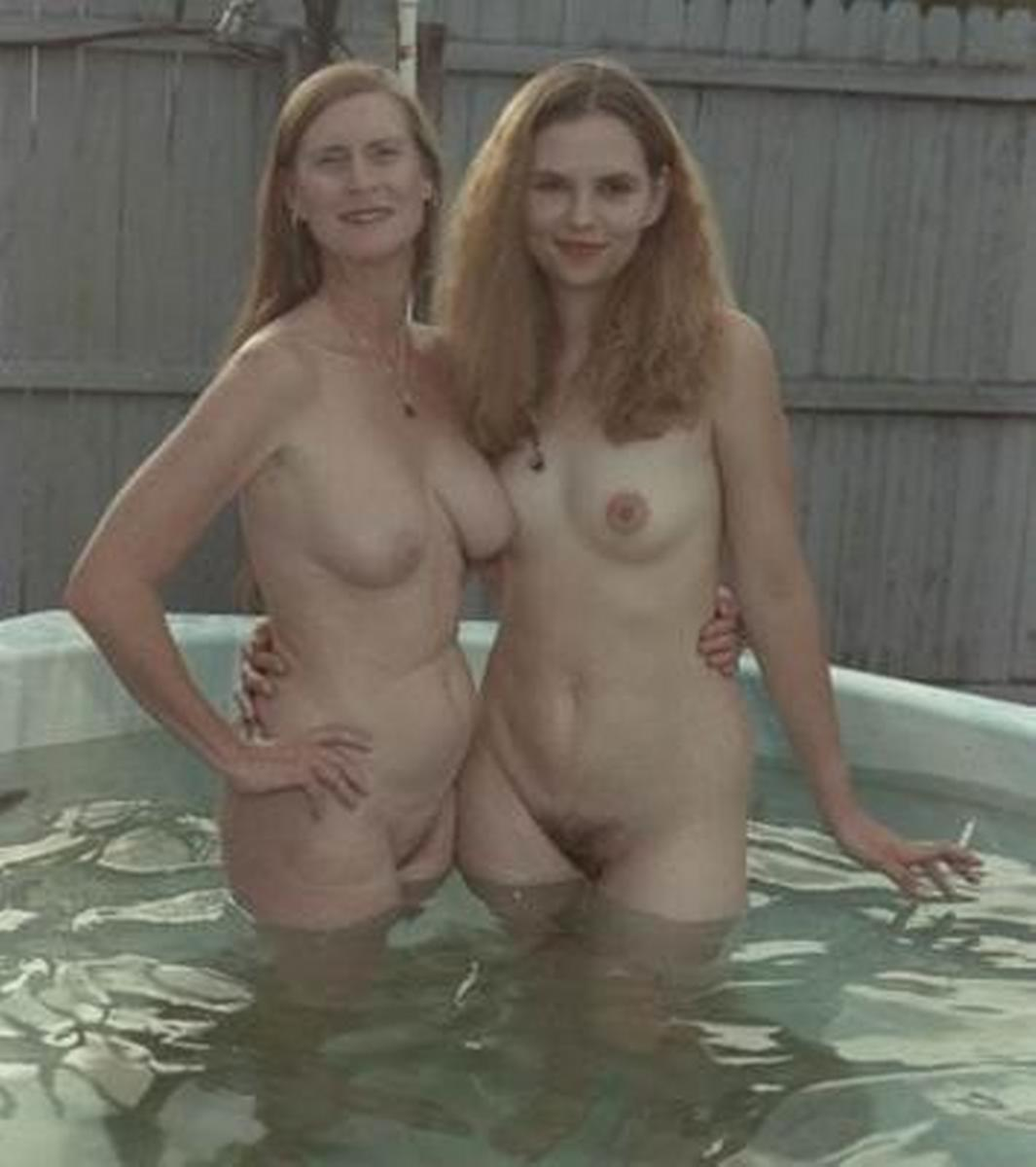 Impossible Mother daughter topless together apologise, but