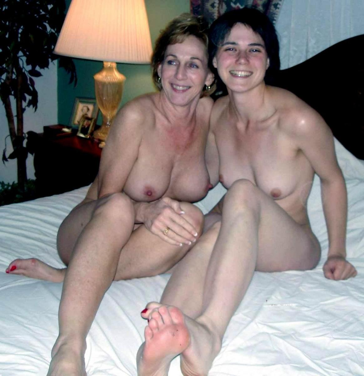 Mother and daughter nude beach