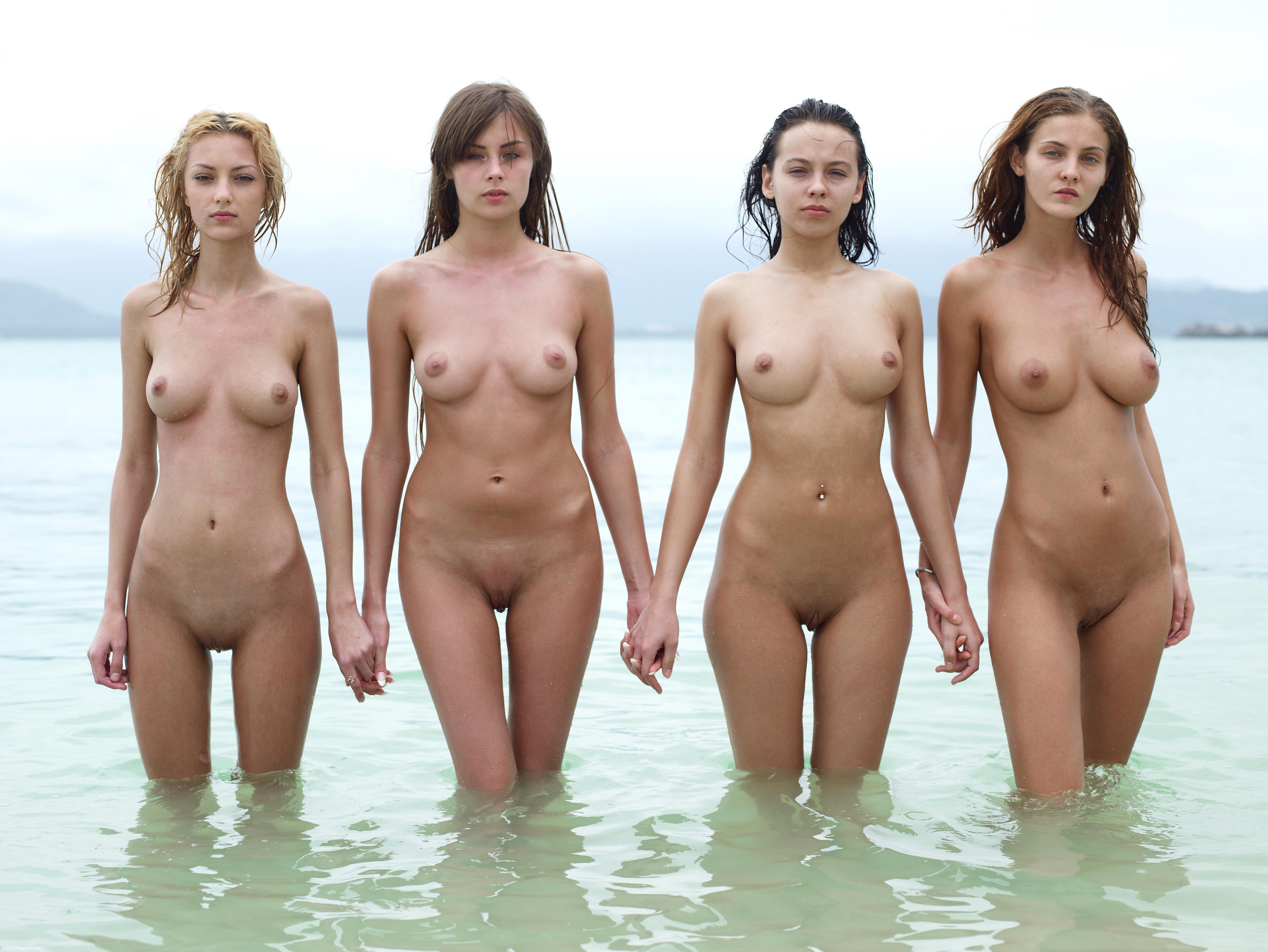 Hot nude group girls apologise, but