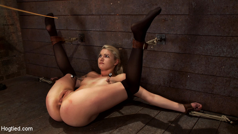 Girl hogtied and fucked