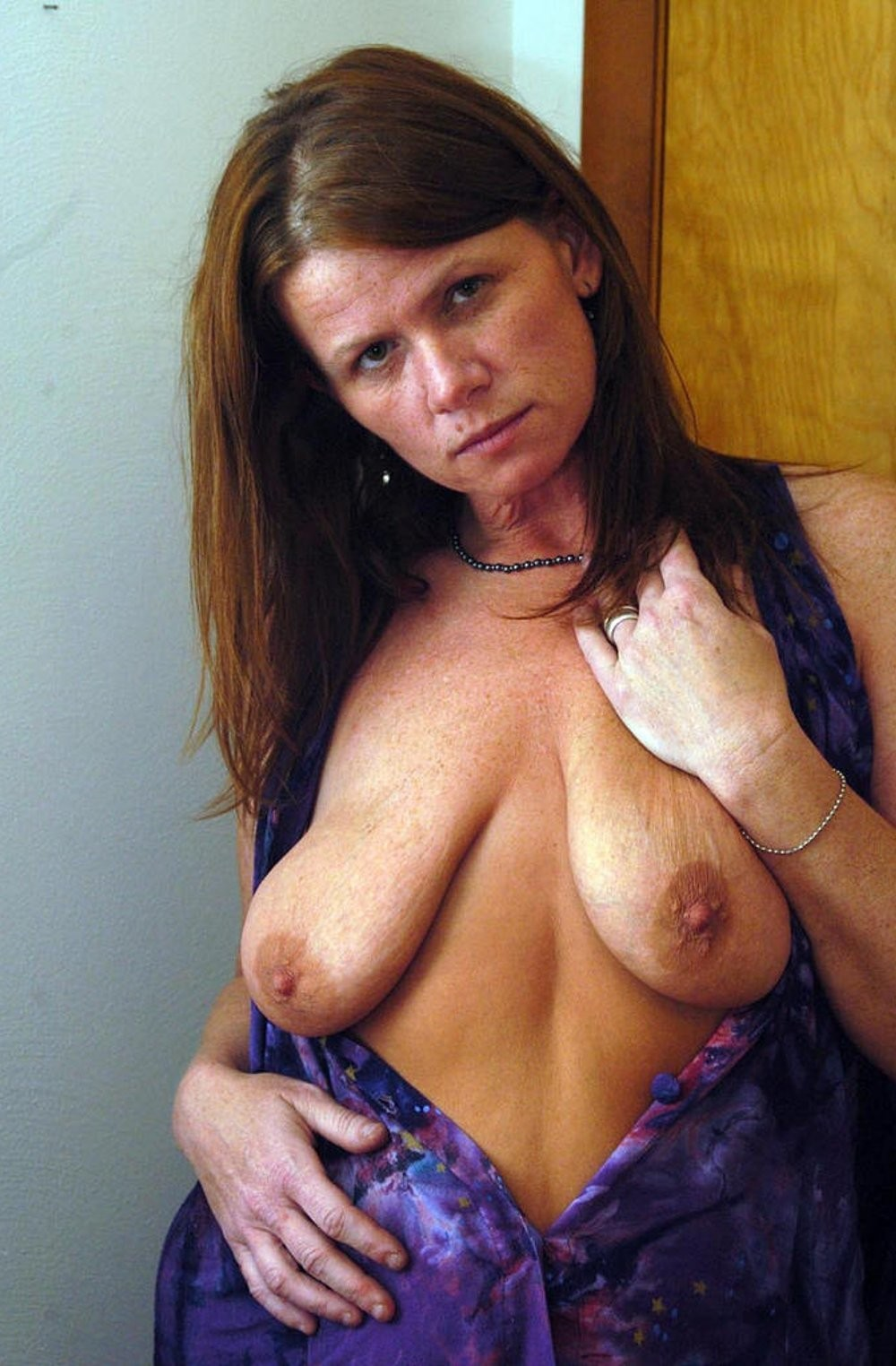 Naked saggy breasts