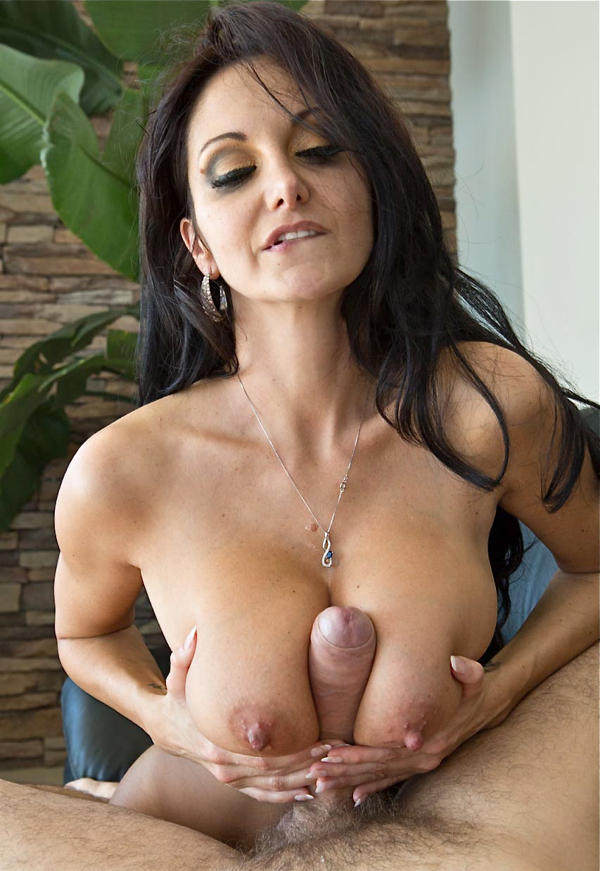 cum between mature titty fuck