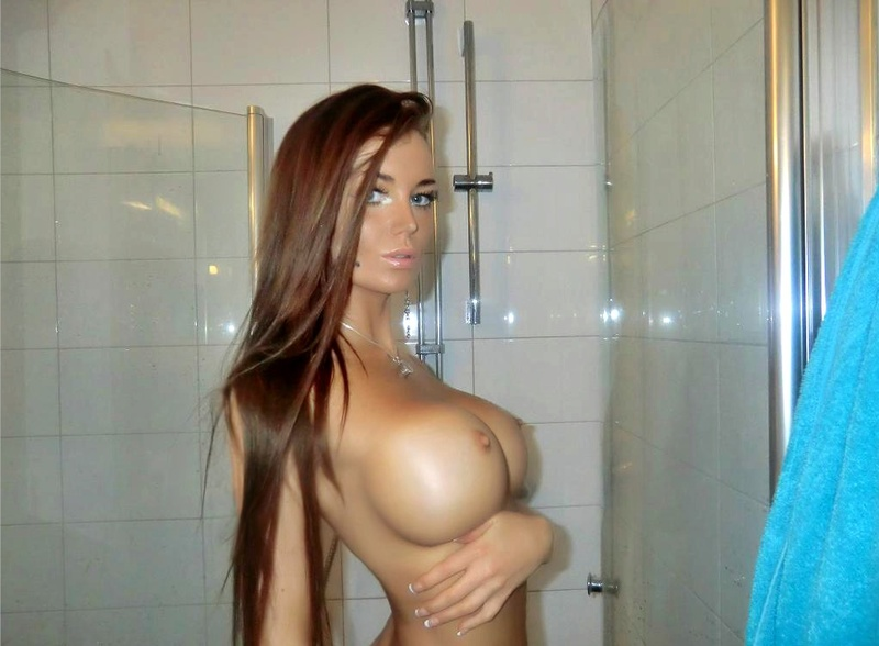 Sexy nude skinny chicks with fake tits