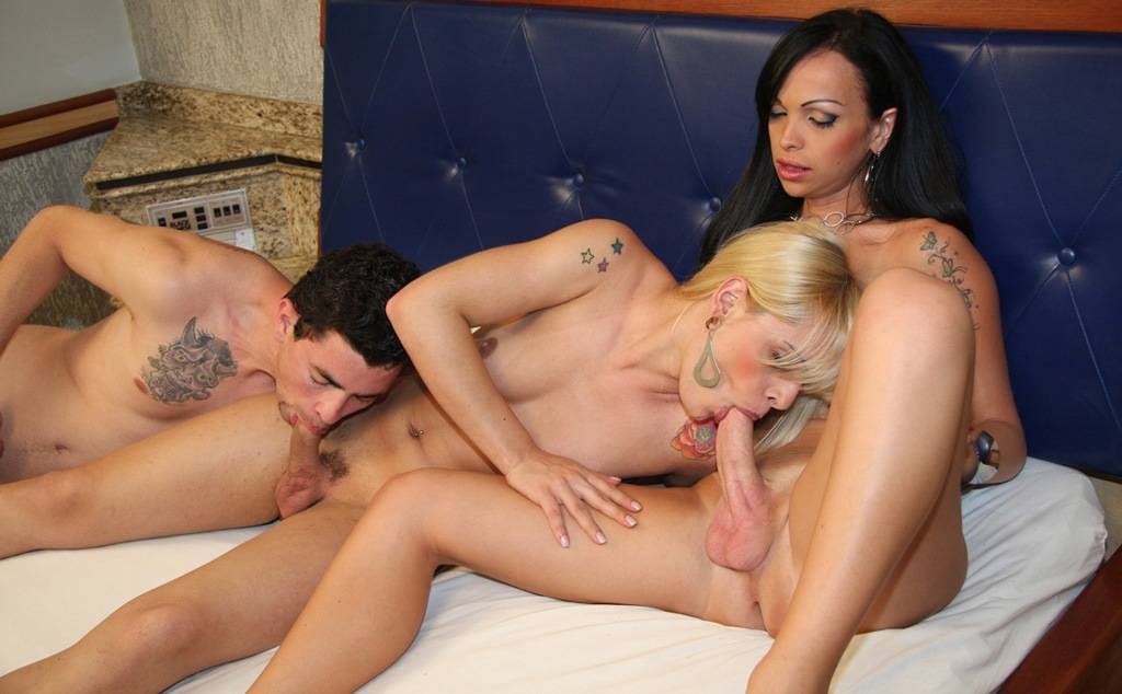 Hot shemale threesome compilation
