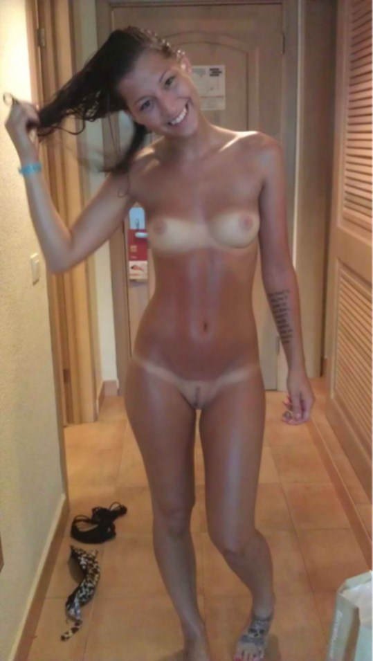 Something Naked tan lines self shot the