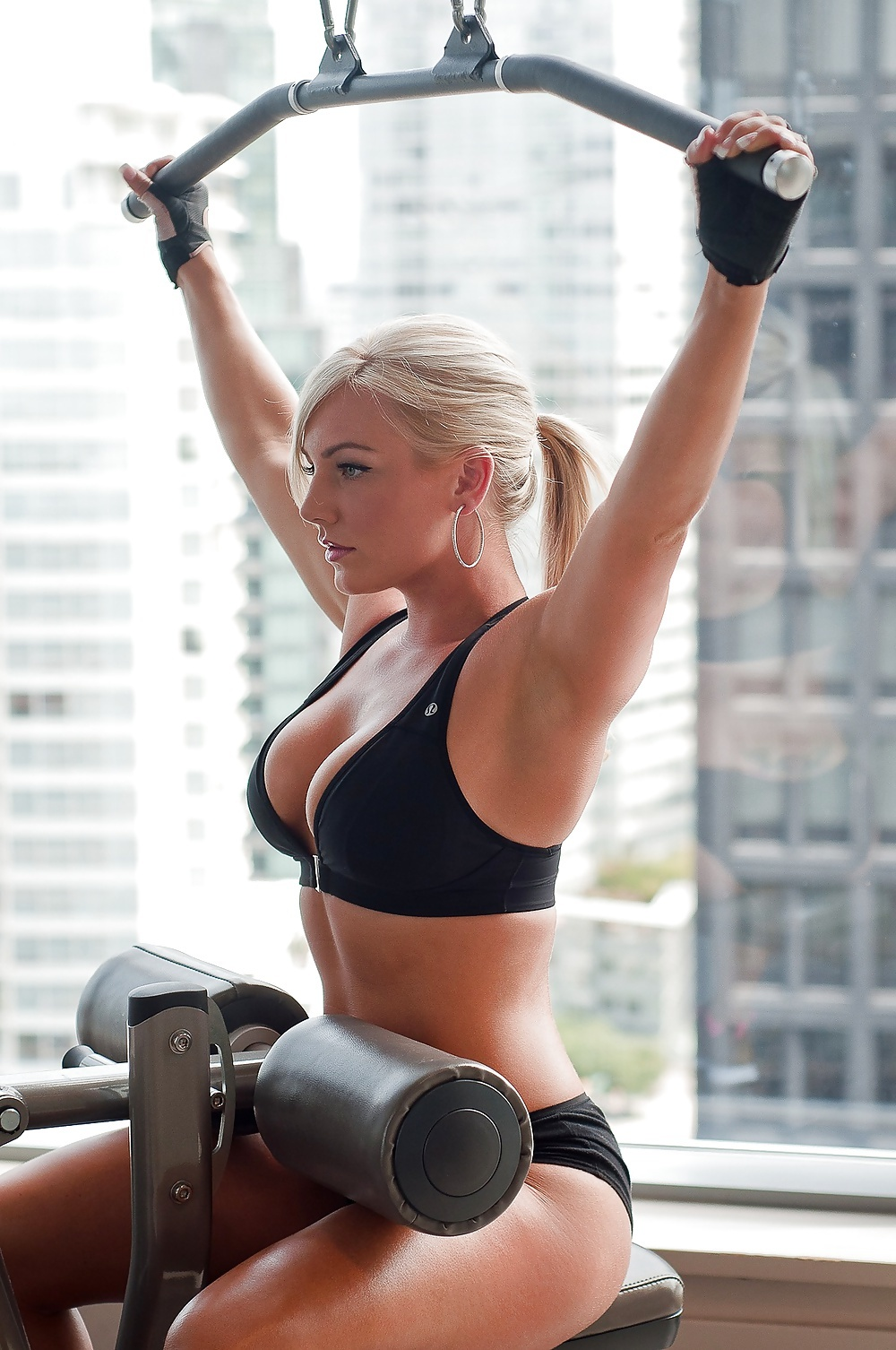 Hot girls working out naked
