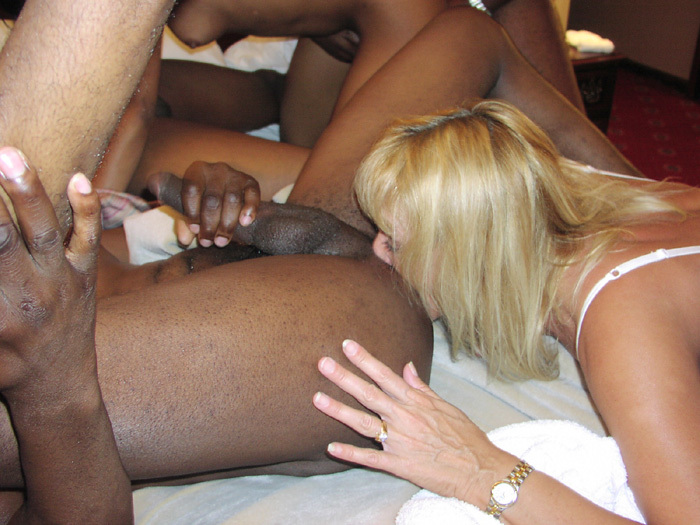 Interracial rimming porn