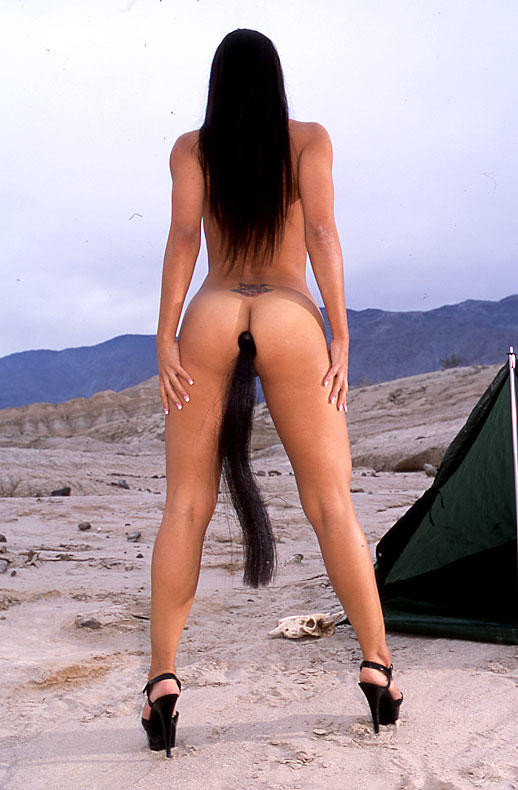 Butt plug tail girls with nude