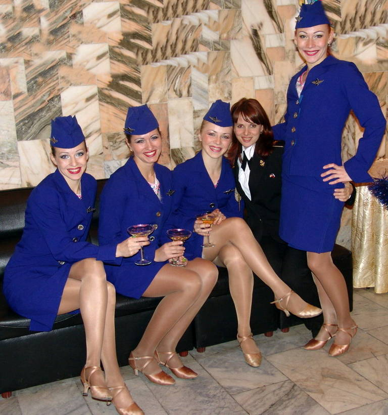 pictures Stewardess pantyhose