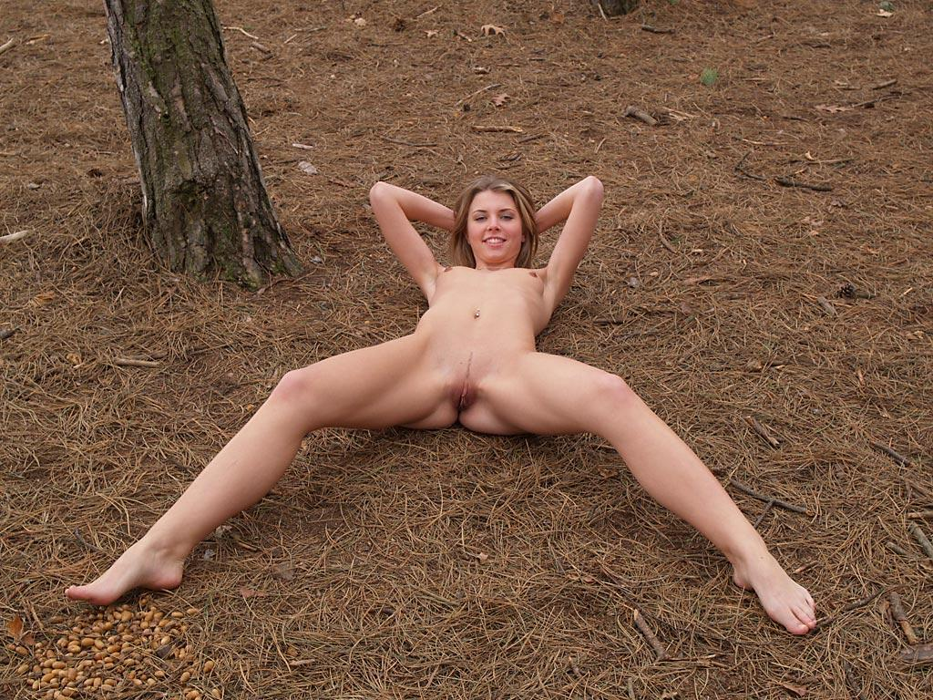 Girls outdoors blonde