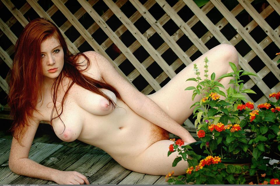 Naked redhead red hair woman nude