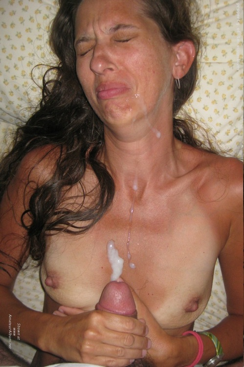 on Amateur wife tits cum
