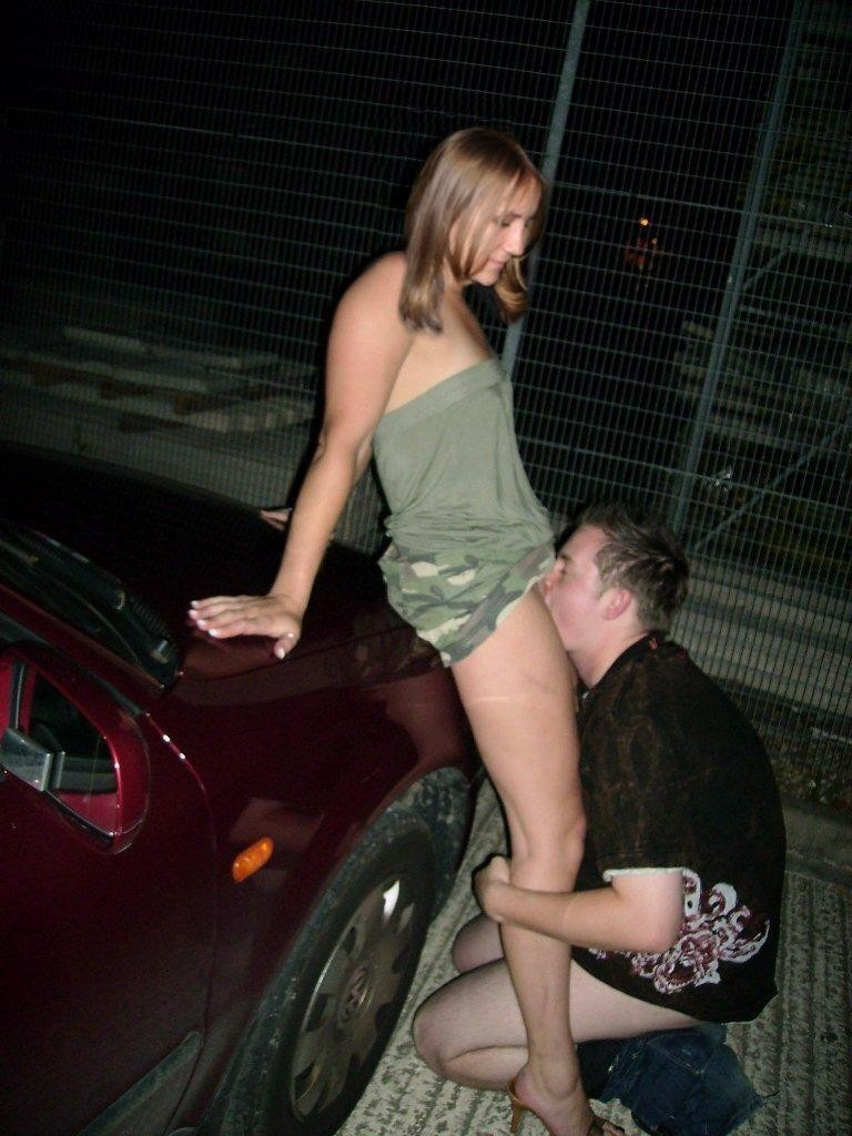 on public street Eating pussy