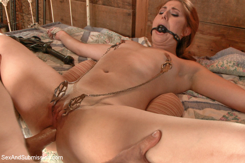 Rope bondage nipple