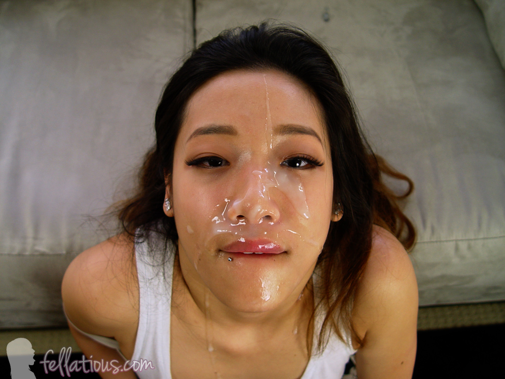 Asian hot cumshot