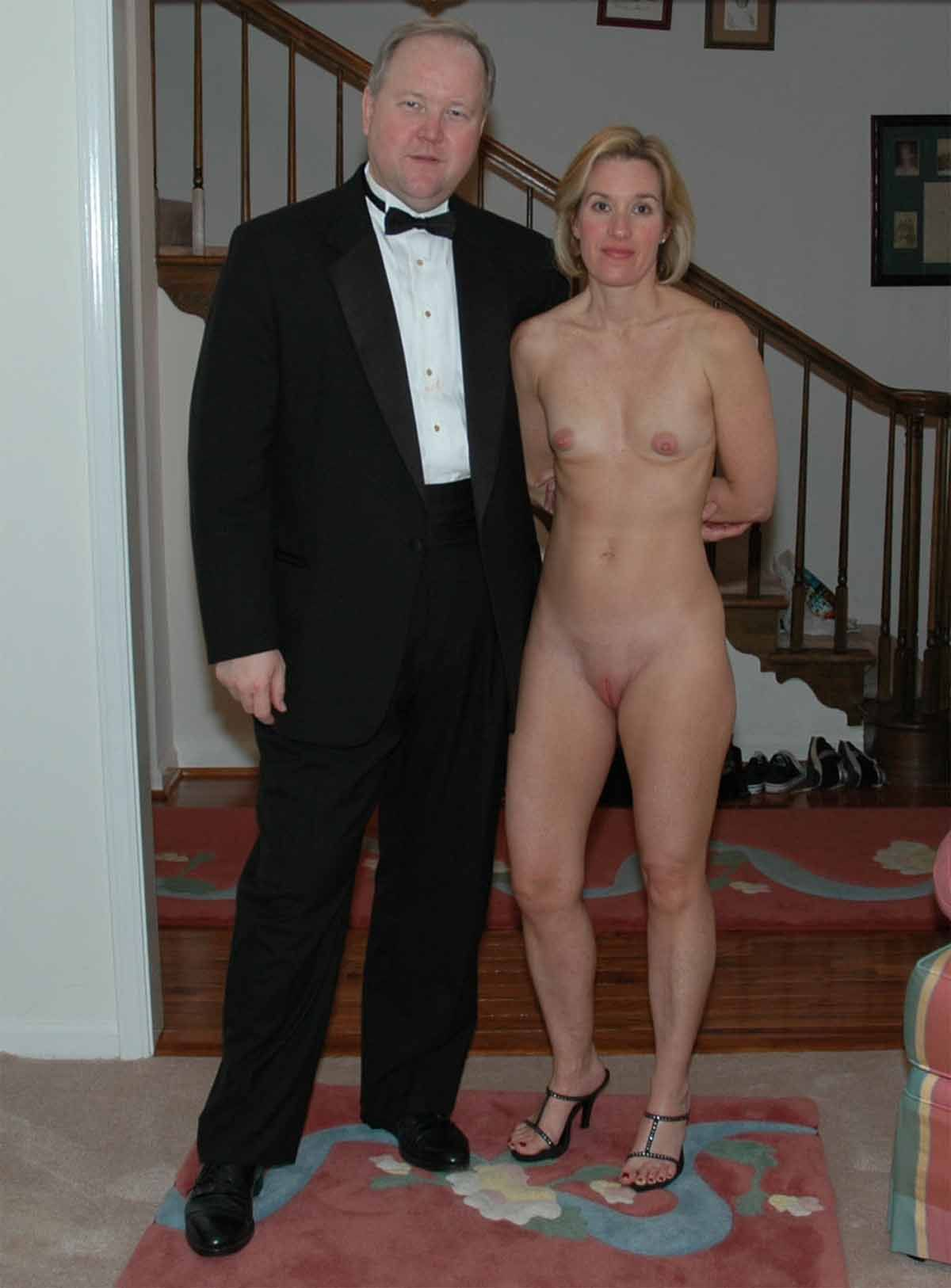 Naked wife bet