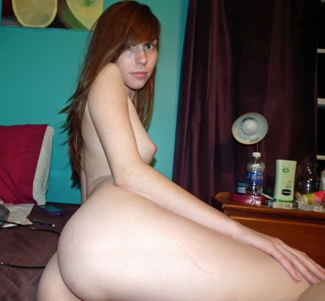 Skinny Amateur Brunette Mom