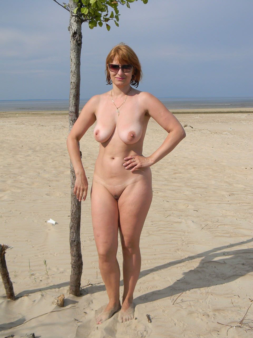 mature nude outdoors Russian