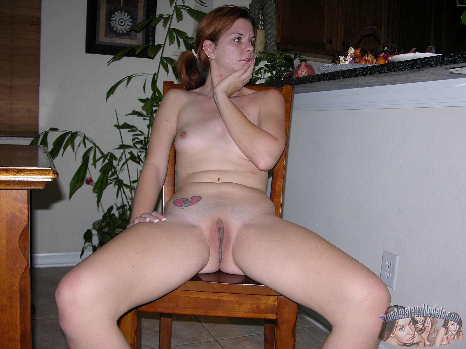 naked Amateur asshole spread