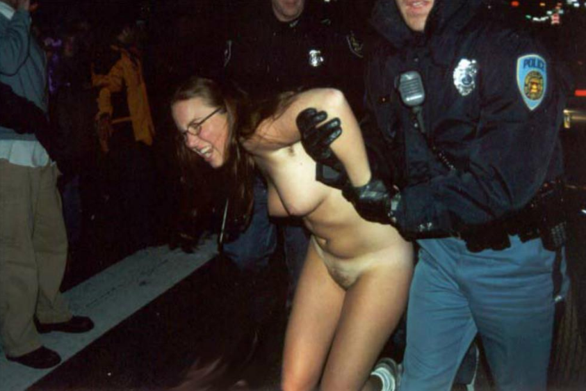 police-officer-forces-girl-to-strip-naked-nude-men-exposing-cock-to-women-in-public