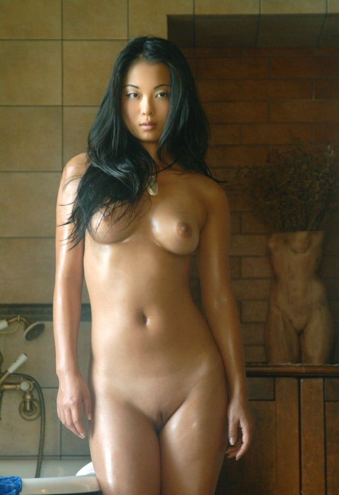 Shaved asian girl naked