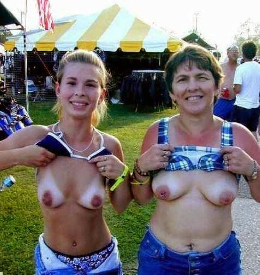 Single mother with daughter naked think
