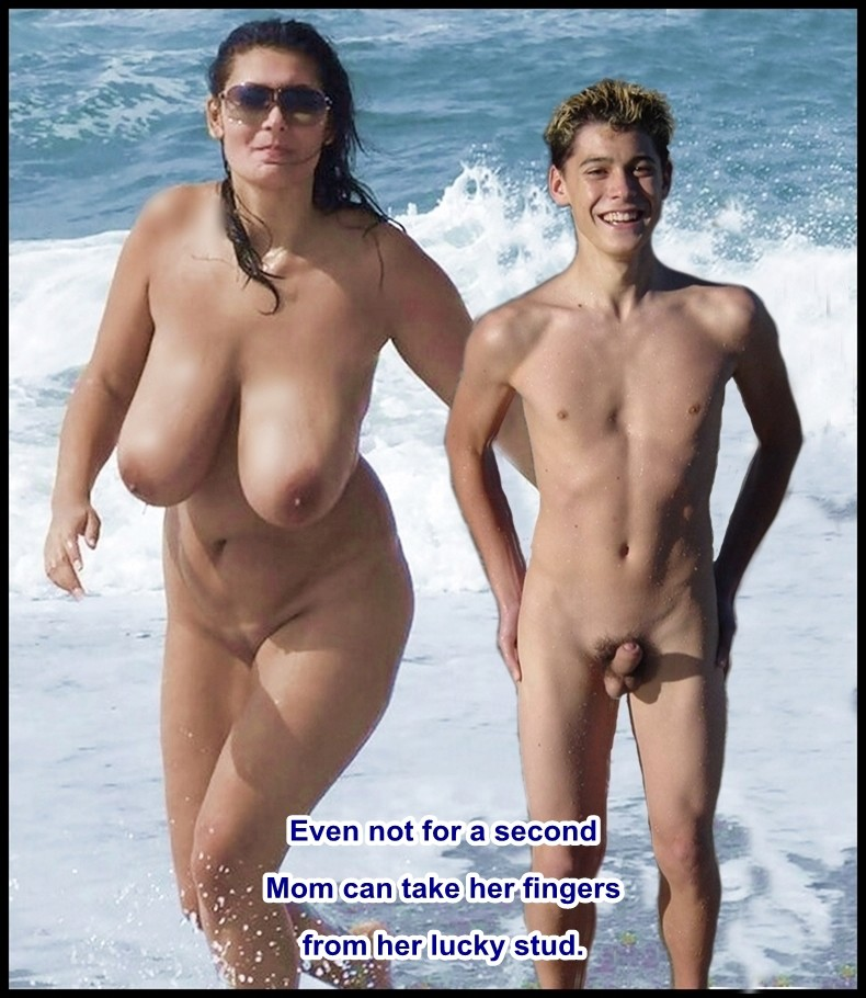 mother and son nude