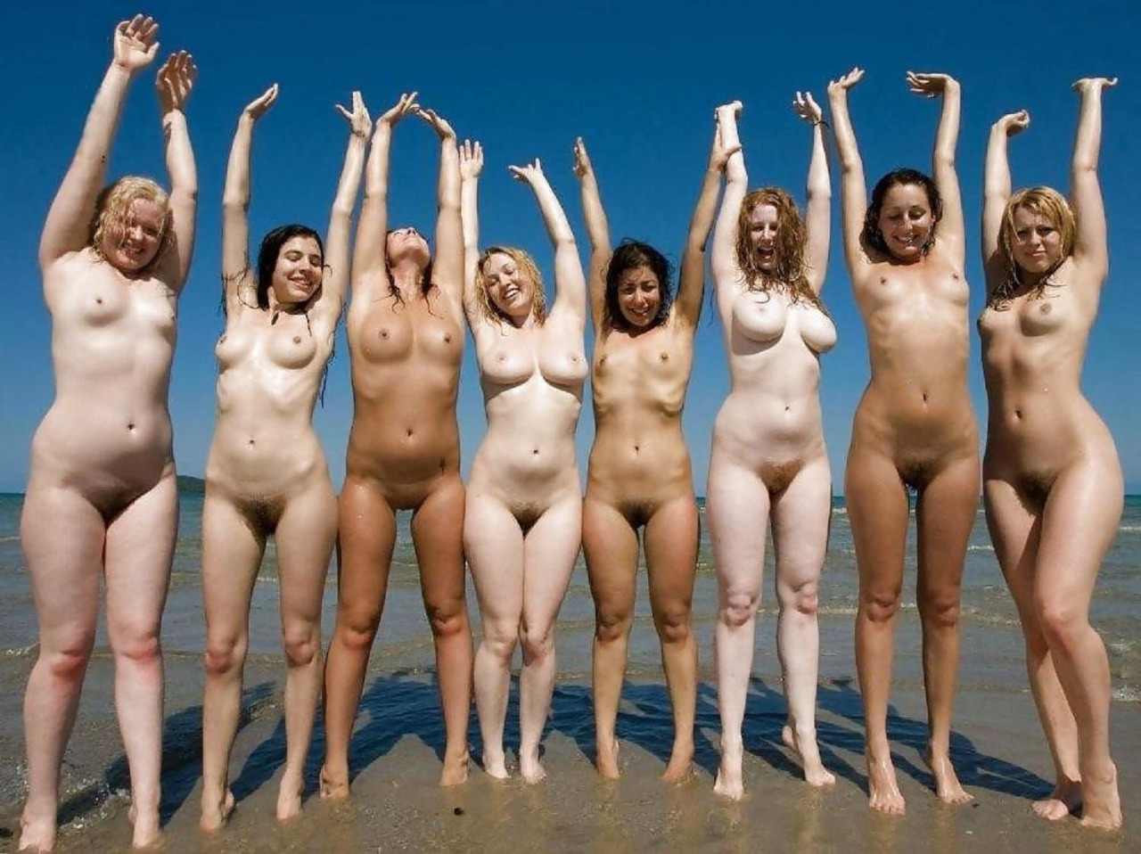 beach group pussy line of sexy females