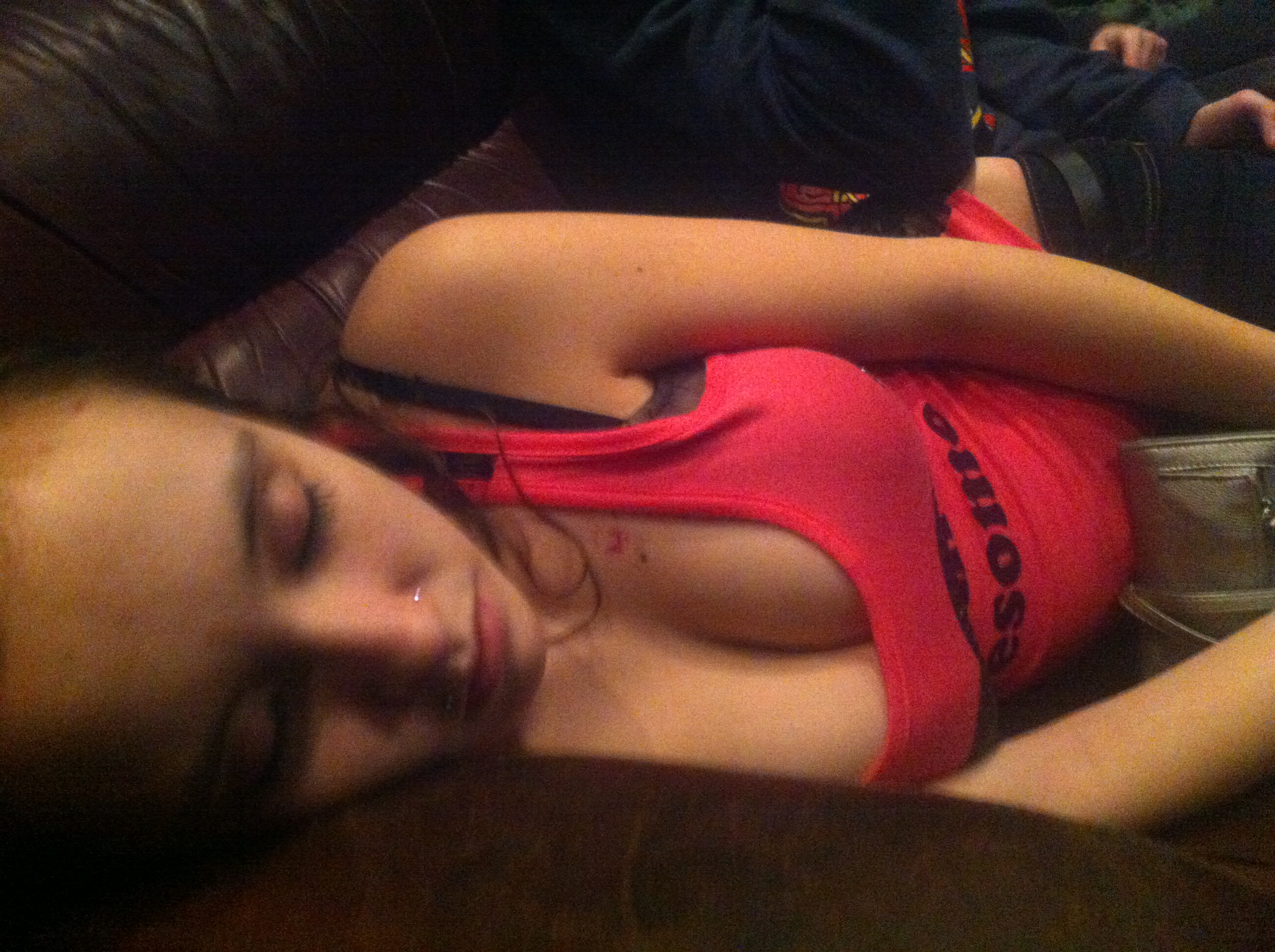 Passed out huge tits