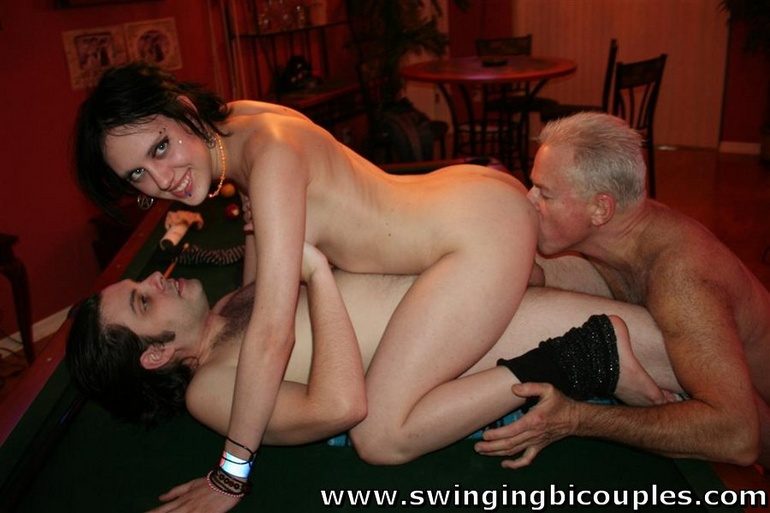 bisexual couple gallery swinging