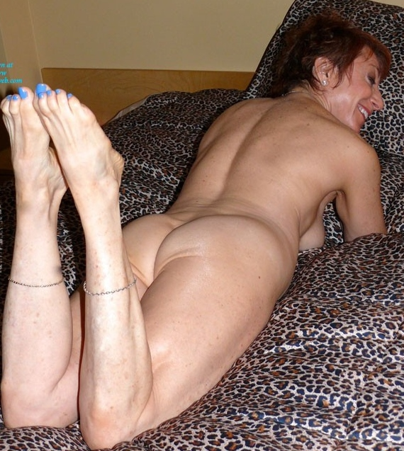Naked red haired woman