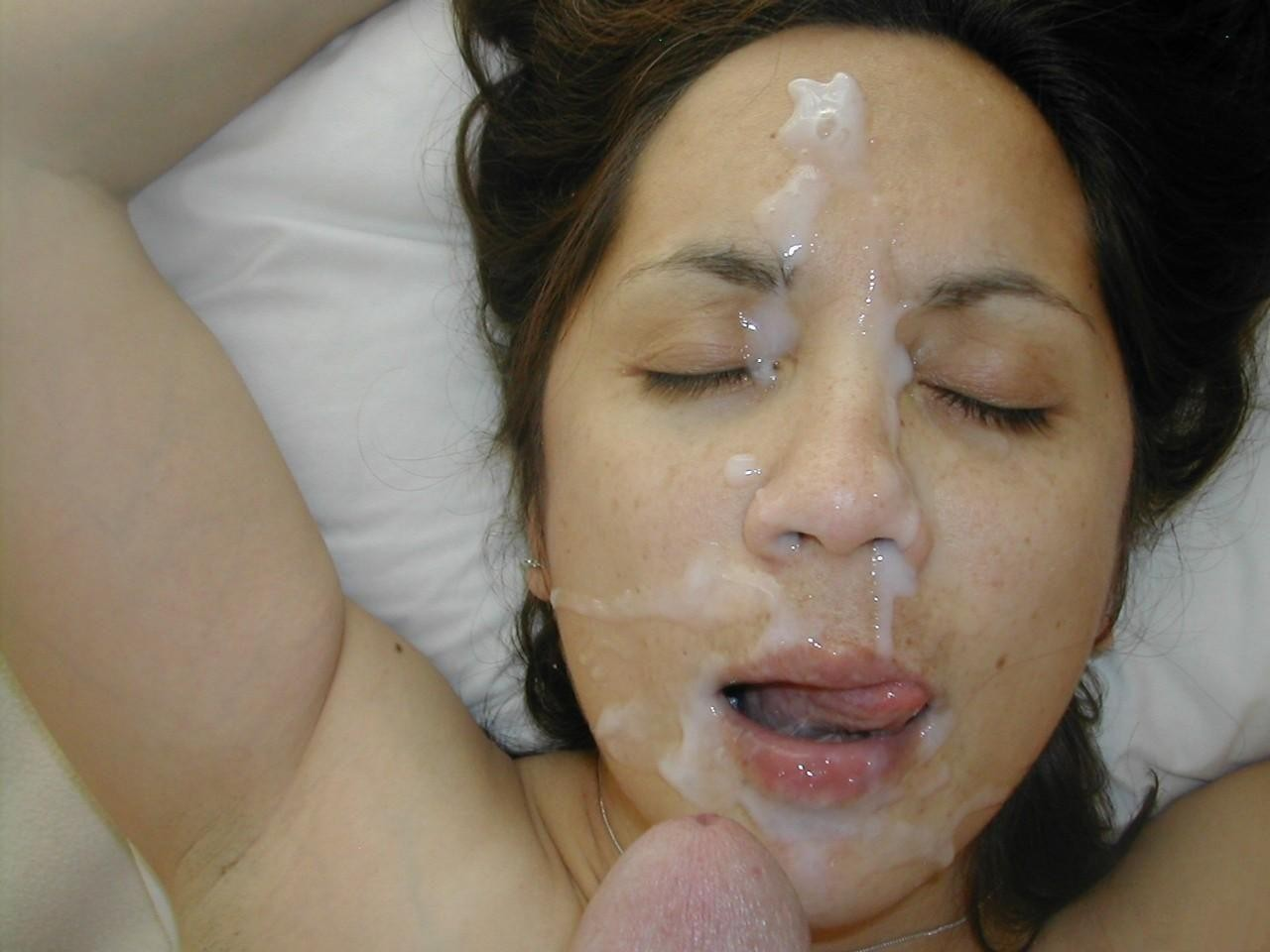Facial cumshot malay