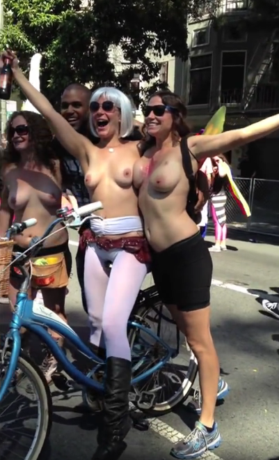 This phrase Topless women in public