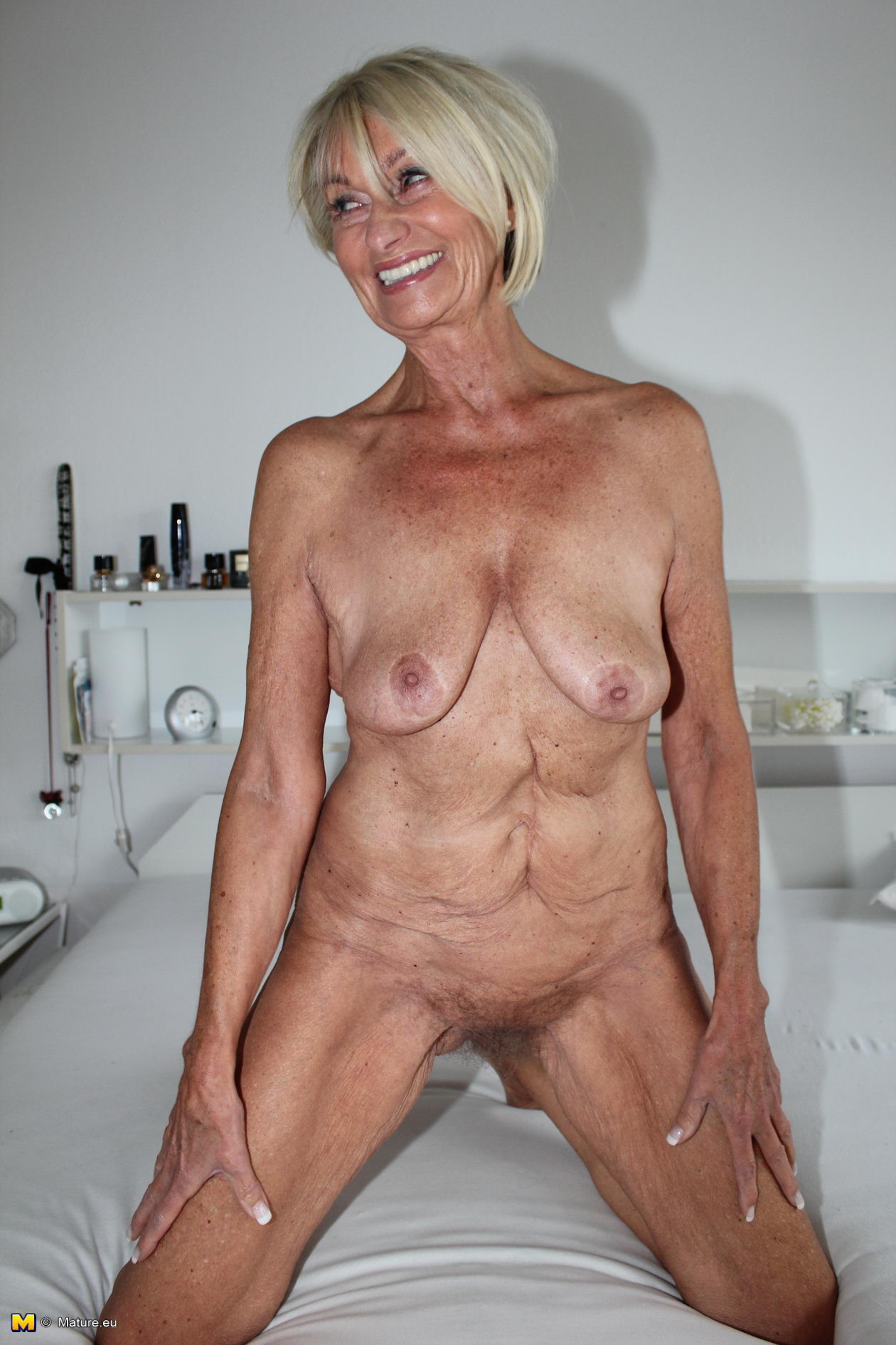 Possible old wrinkly naked woman