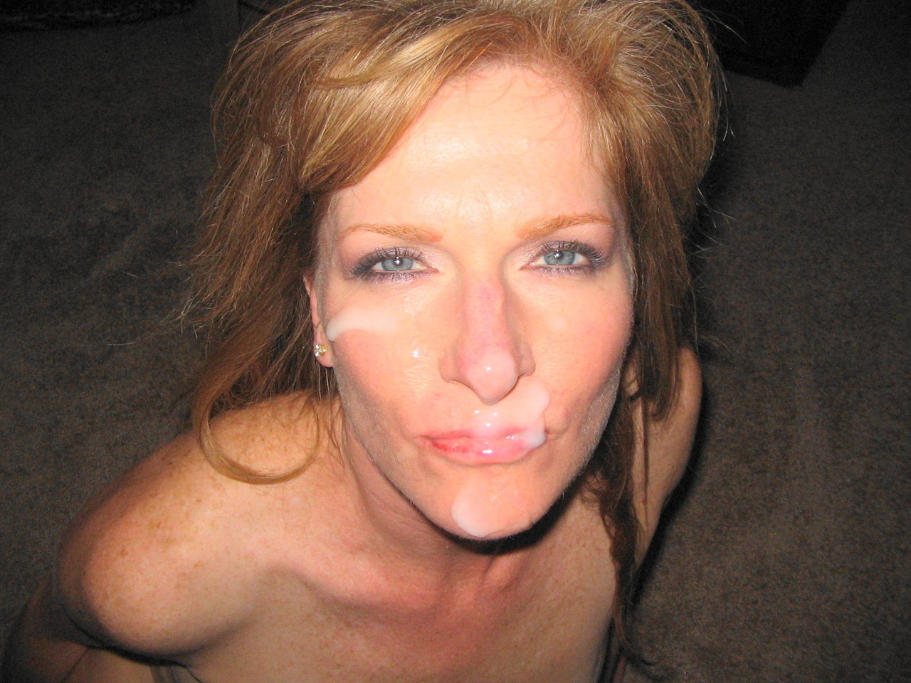 There amateur mom facial