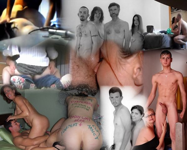 Real Amateur Incest Family Collages