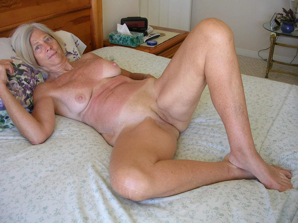Having Naked sex granny