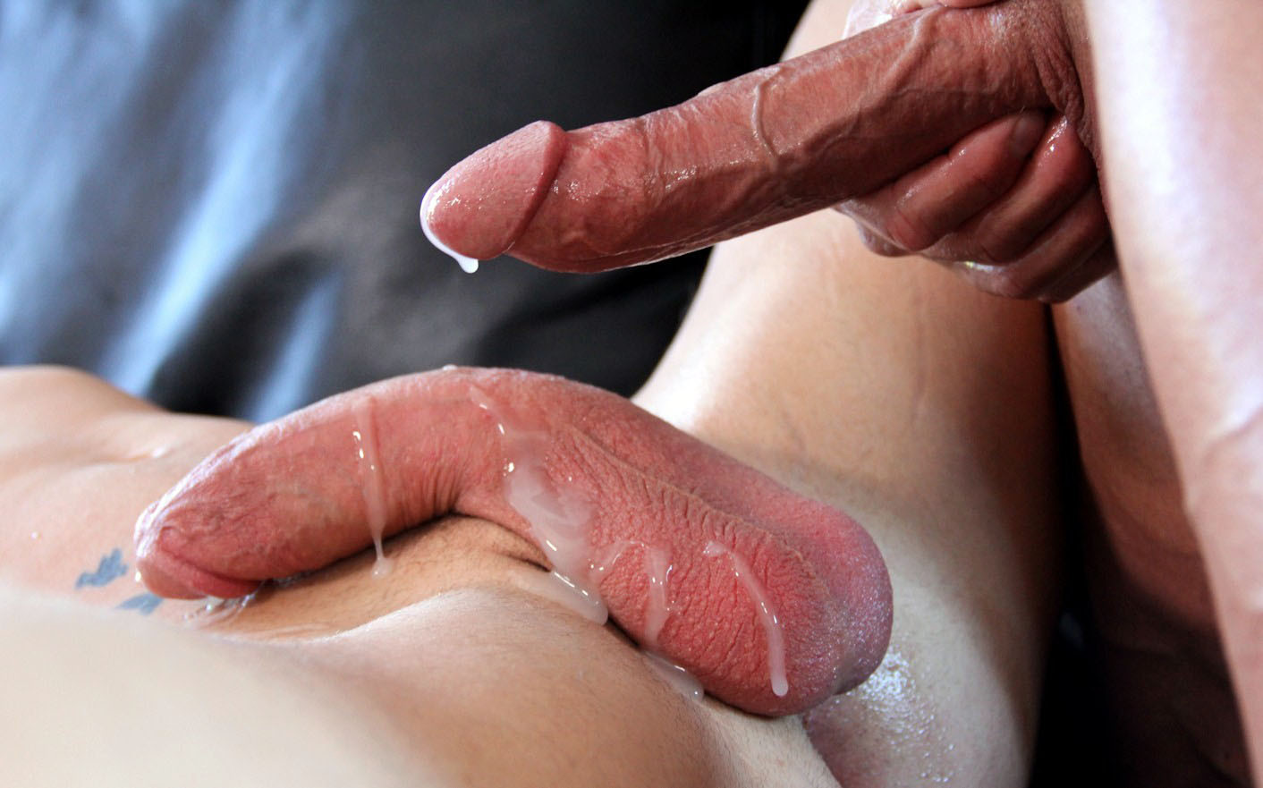Cum on the cock