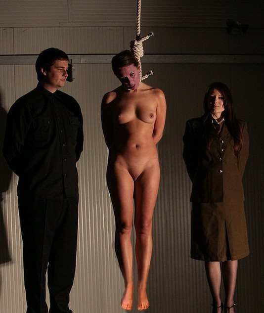 Naked girls hanged agree with