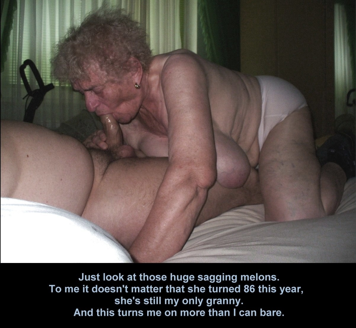 Granny porn caption