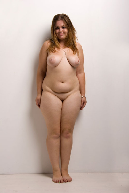 chubby standing naked
