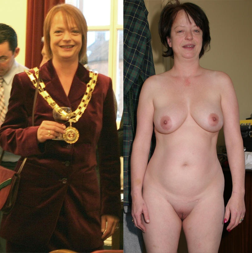 Nude clothed mature