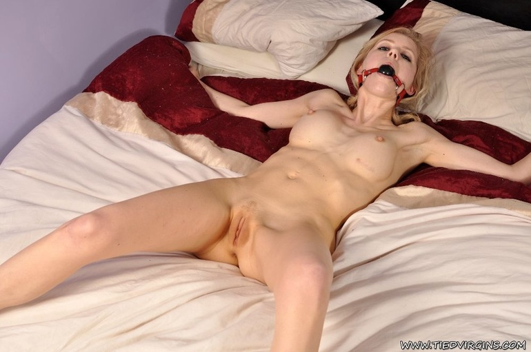 Bed tied spread eagle