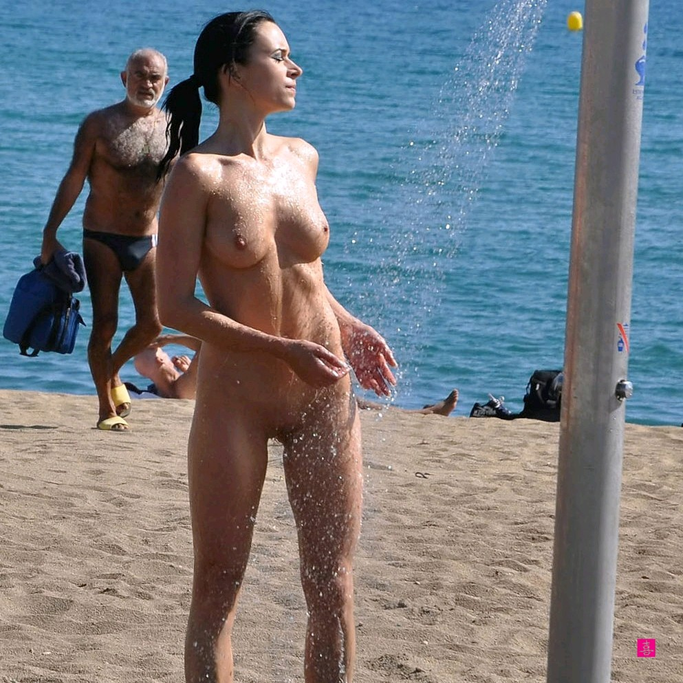 Beach nude shower