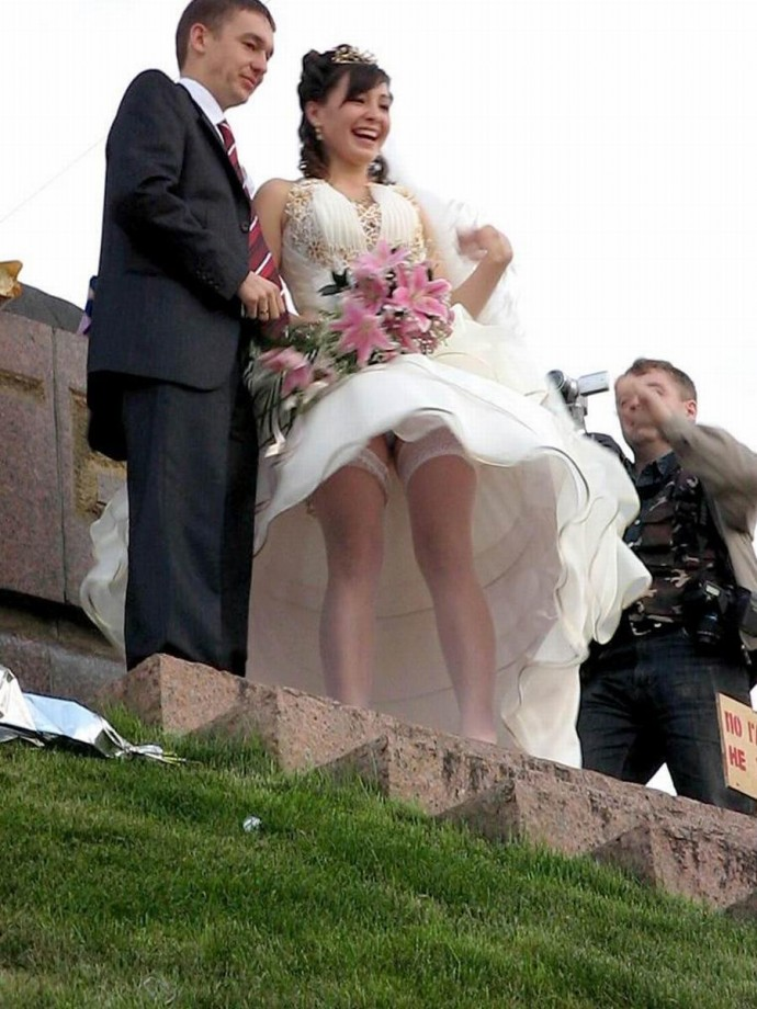 Bride and wedding upskirt photos pity