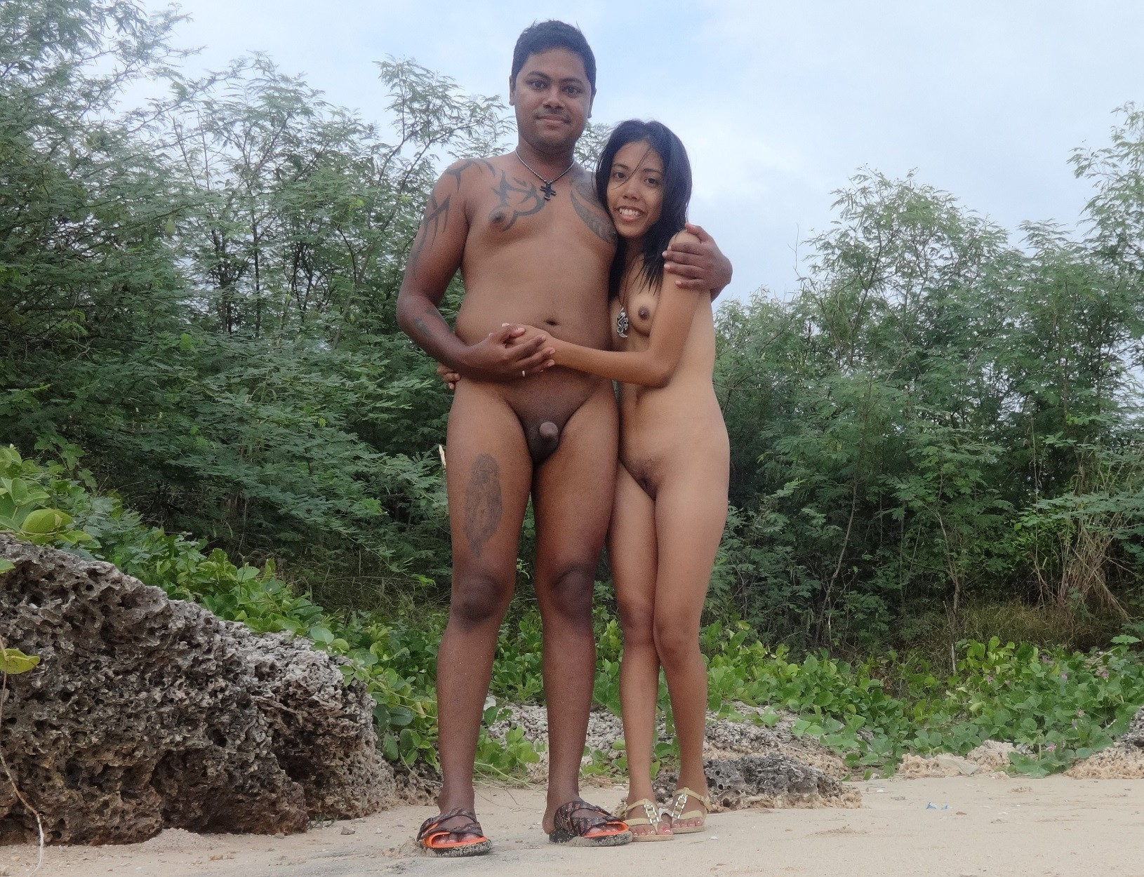 beach amateur contest couple