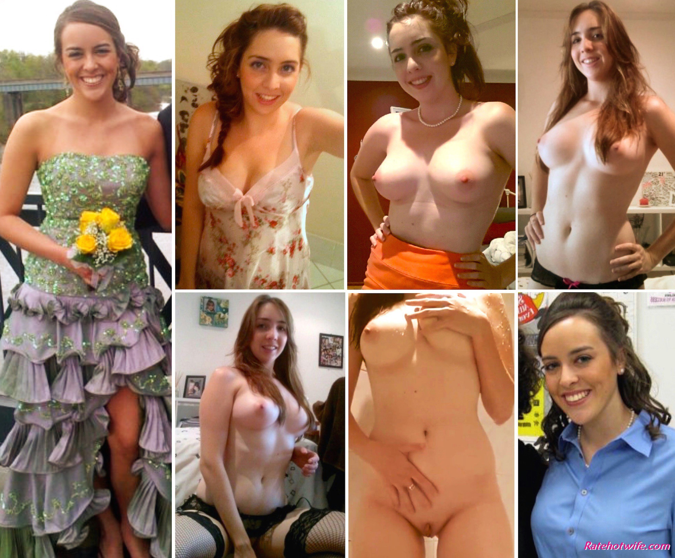 Dressed and undressed wife