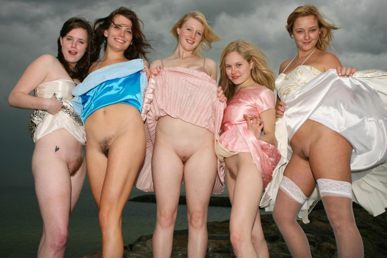 group of bottomless girls porn