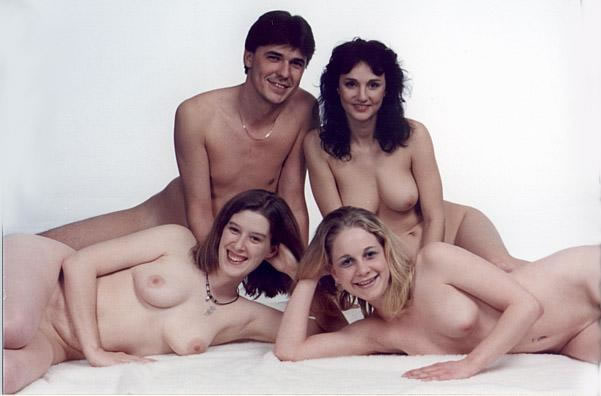 Portrait naked family nude